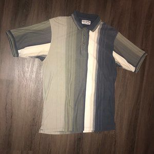 Boca Classics Short Sleeve Striped Golf Polo